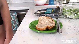 make a sandwich and pee