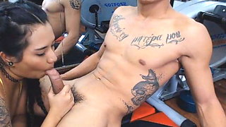 Gym Buddies Get Kinky While Working Out