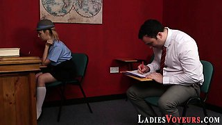 Teen domina teases loser
