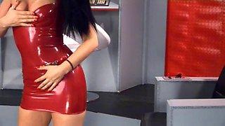 Monica harris red latex scifi