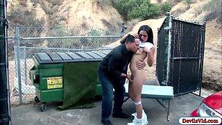 Babysitter maya bijou chases boss and rides his hard cock