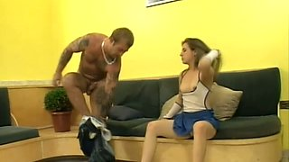 Dude sucks the clit of playful and slutty nympho called Amanda