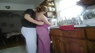 fucked in kitchen from behind