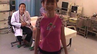 Mari Yamada, nice Asian teen is a hot nurse getting a fuck and a facial
