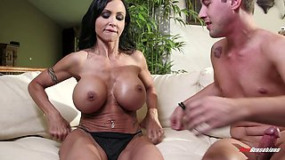 Experienced senorita with big boobs still passionately rides the cock