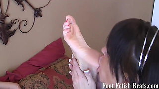 You can watch us have some pantyhose foot fetish fun