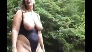 Milf Heels Big Tits Fat Ass Bikini Outside = Perfect