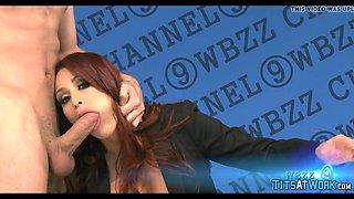 horny in the news studio