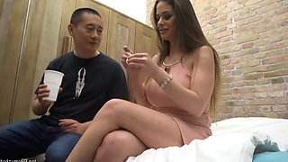 Sexy brunette MILF Cathy fucked hard