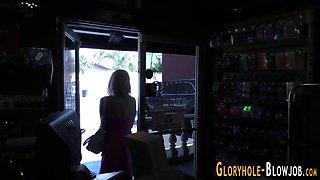 gloryhole babe creampied masturbation naked 2