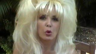 gorgeous retro huge-tits mature smoking teasing