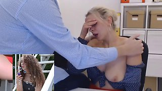 secretary tiffany gets groped by boss on webcam