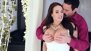 Bride Angela White Blows Big Cock Of Her Lover