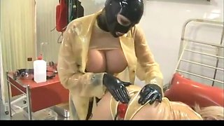 The rubberclinic - hard dp anal spread   piss fill