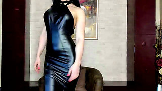 Leatherclad Mistress Cums in Boots
