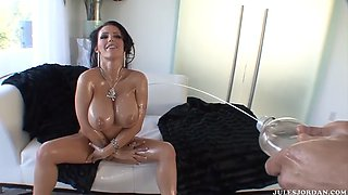 oiled up squirting machine