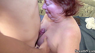 Hairy German Granny Teach Virgin Young Guy to Fuck