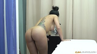 Sweetie Julia de Luc?a has a sexy tattoo and a lustful lover
