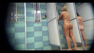 Amazing amateurs in a public shower room