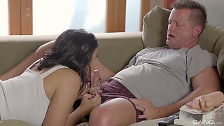 Smoking hot Violet Starr knows how to ride a big cock properly