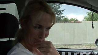 Amateur Blonde fuck in the car