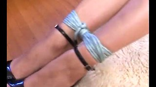 Two girls tied
