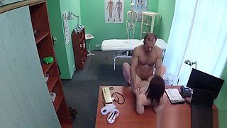 Skillful Man Pleasures Sexually Excited Doctor To The Max