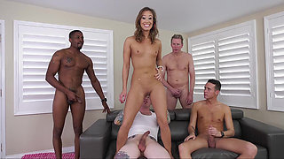 Asian's amazing gang-bang