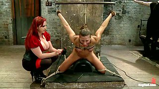 Blond babe Ariel's body is being abused pretty hard
