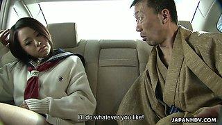 Kinky boss gives good tongue job to sexy secretary Rui Natsukawa
