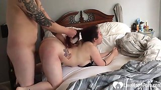 Very pretty amateur big ass wife getting dicked from behind hard