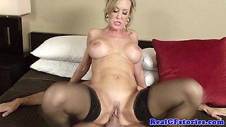 Hot blonde housewife milf pounded
