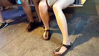 Smoking fr s sexy legs  feets and hot red toes