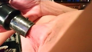 Using the Vacuum on my Big Erect Clit