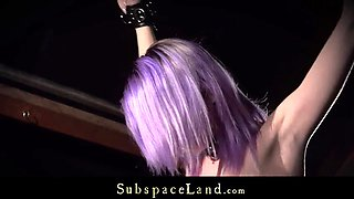 purplehair slave spanked and dominated rough