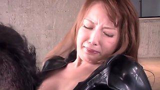 Incredible Japanese model in Fabulous Latex, HD JAV video