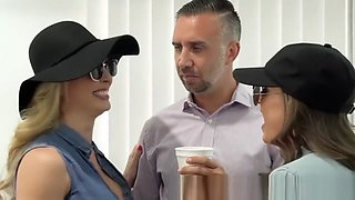 Brazzers - Abigail Mac & Cherie Deville & Keiran Lee - Sex Addicts threesom