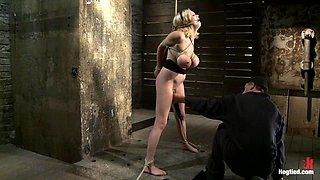 Katie Kox And Her Monster Tits Are Introduced To HogTied The Meet And Greet. - HogTied