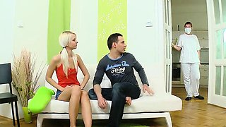 Stud assists with hymen physical and penetrating of virgin n
