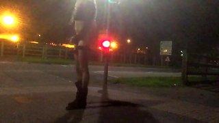 Crossdresser stripping