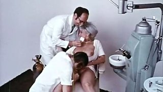 Busty and dirty mature lady in the office of a dentist