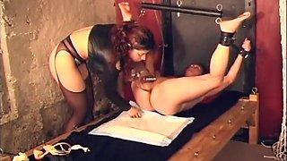 Fabulous pornstar Mistress Raven in horny dildos/toys, spanking sex clip