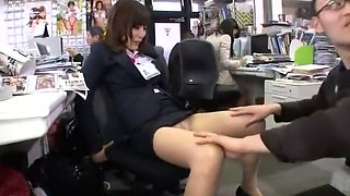 Crazy Japanese whore Aya Sakurai in Exotic Handjobs, Voyeur JAV movie
