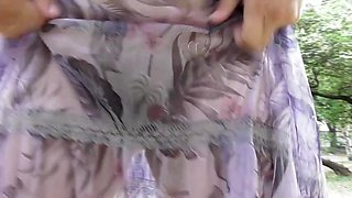 Hairy mature in transparent skirt (part 2)