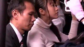 Schoolgirl groped and fucked on train