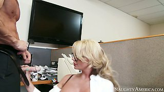 Busty blonde Phoenix Marie gets her pussy drilled by Johnny Sins