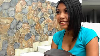 Backpacker smashing busty bignippled asian girl