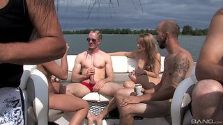 Smoking hot Alyson Queen and other girls know how to party outdoors