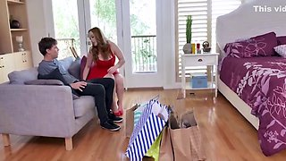 Sexy Thick Redhead MILF Step Mom With Big Natural Tits Fucked By Young Step Son