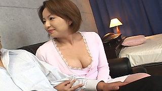 Sexy Japanese secretary having an affair with her boss